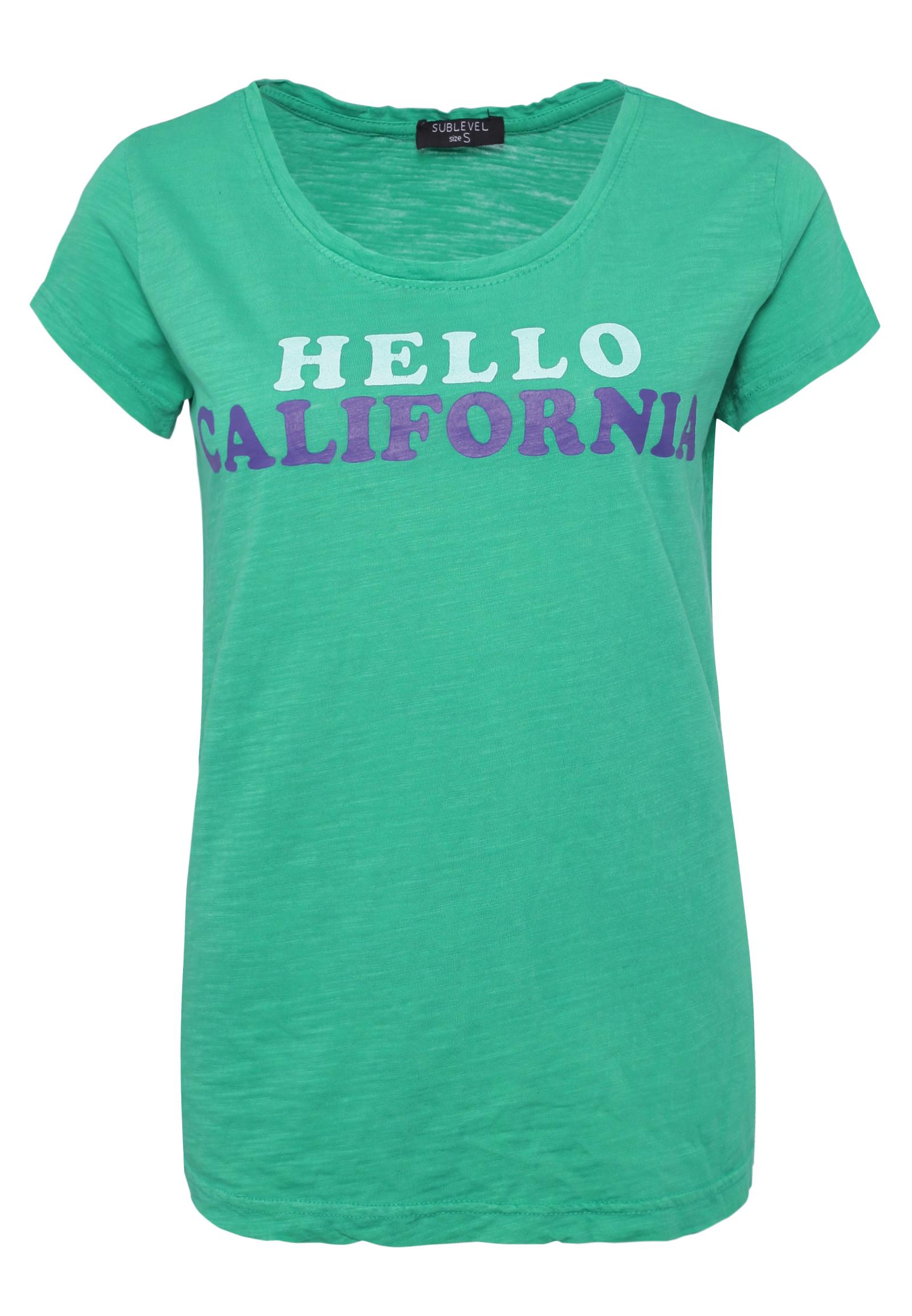 MoonWorks Damen T-Shirt Girl Boss Statement Spruch Quote Message Hashtag Farbiger Kragen Ausschnitt Retro-Look