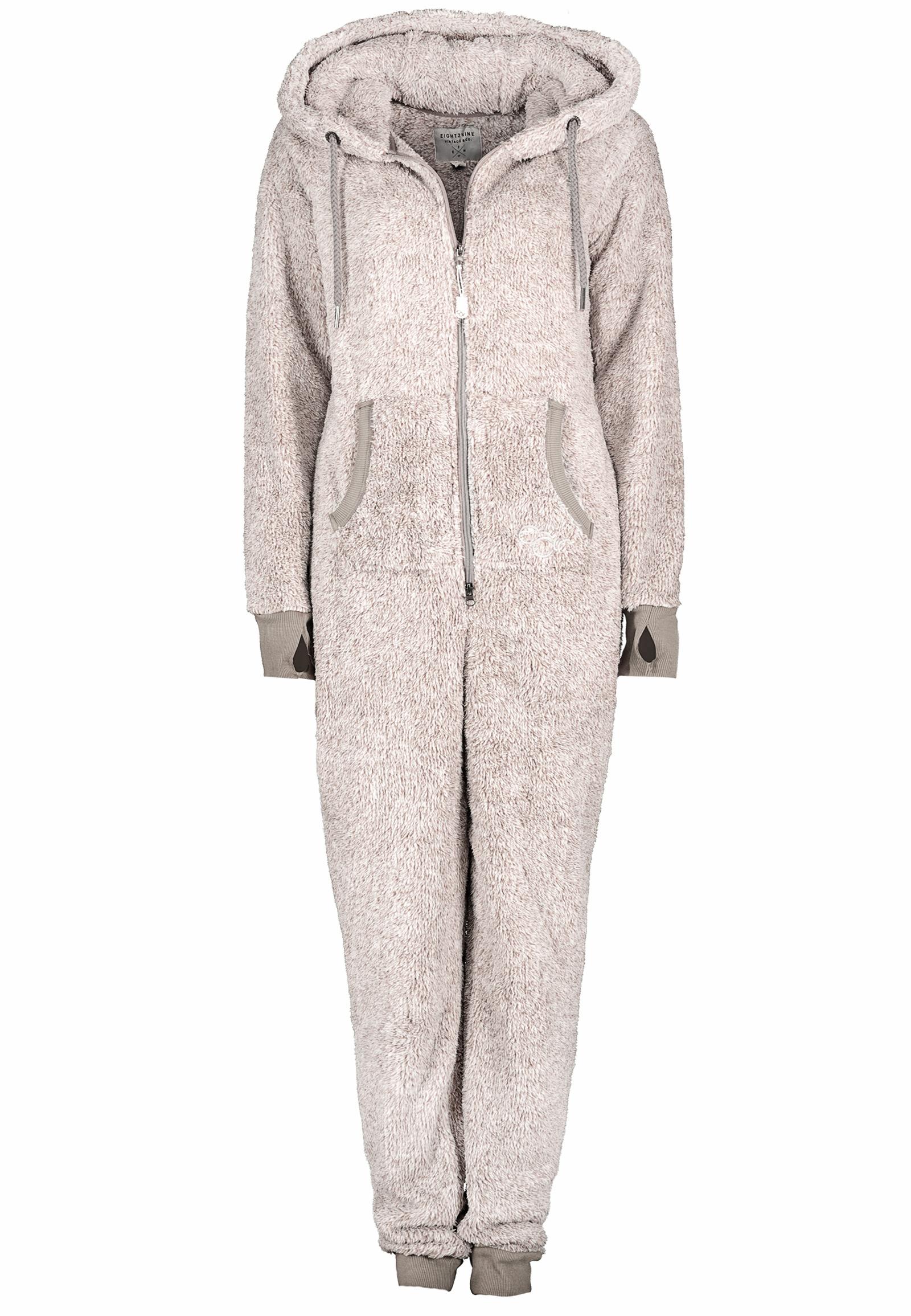 jumpsuit teddy fleece overall ganzk rperanzug ohren damen eight2nine ebay. Black Bedroom Furniture Sets. Home Design Ideas