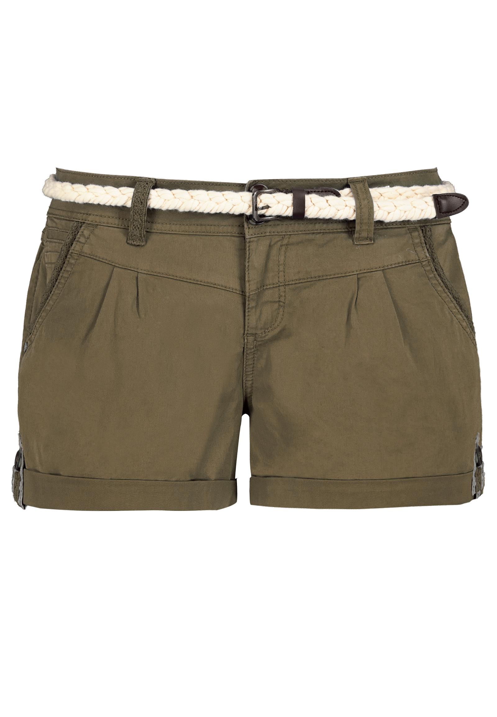 EIGHT2NINE Damen Shorts mit süßer Häkelspitze - Kurze Hose im Chino ...