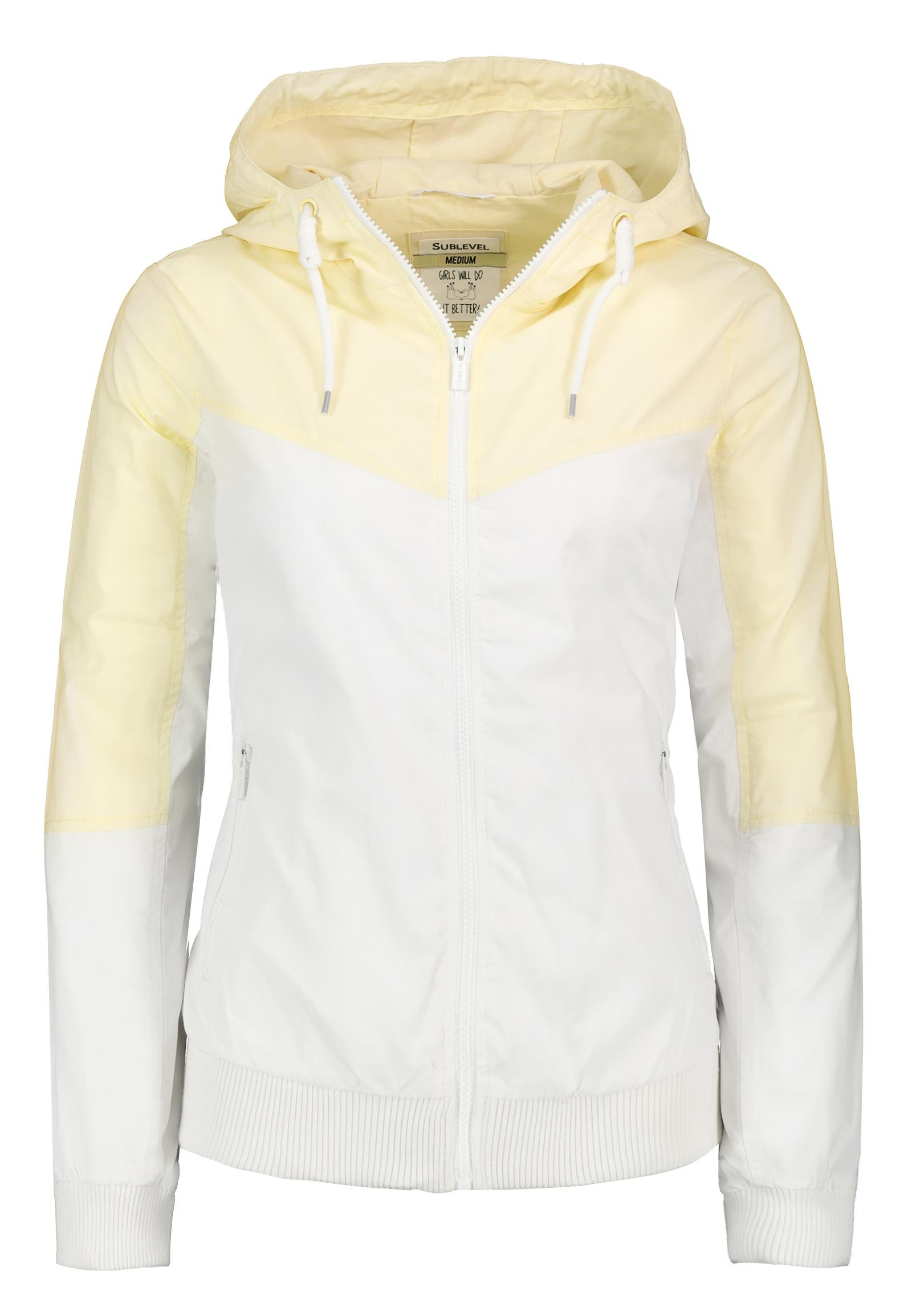 Details zu SUBLEVEL Leichte Damen Jacke im Colorblock Style mit Kapuze Windbreaker weich
