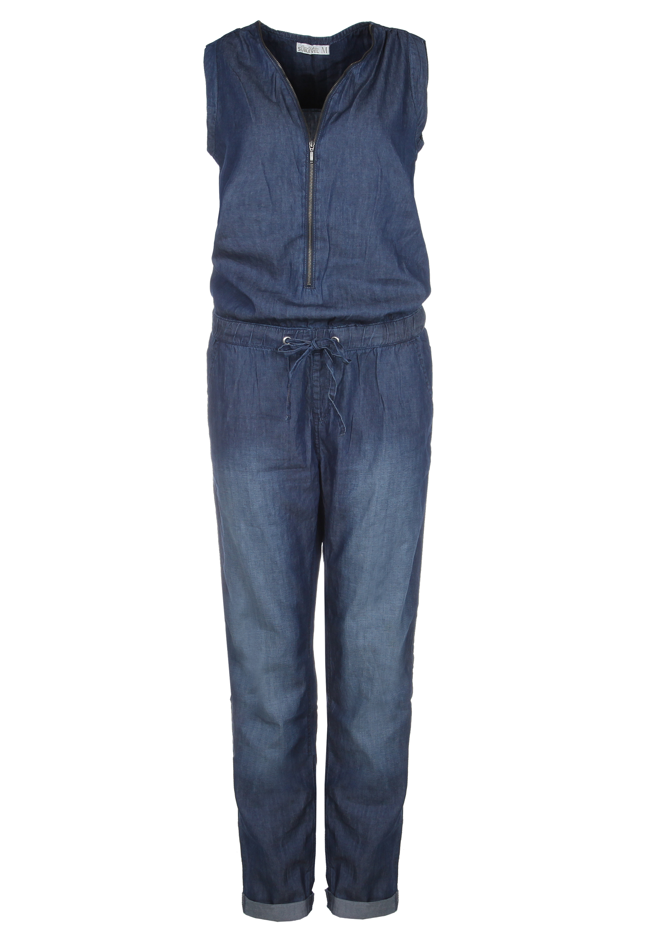 wholesale dealer c6588 4c987 Details zu Damen Jeans Jumpsuit Overall Hosenanzug Lang Denim Einteiler  Elegant Sublevel