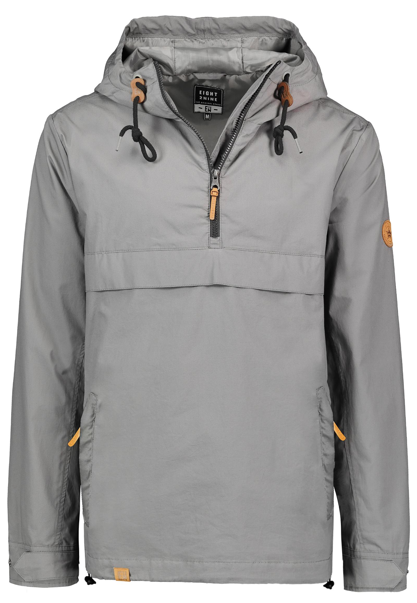 Details zu EIGHT2NINE Herren Schlupf Jacke mit Kapuze Half Zip Windbreaker Übergangsjacke
